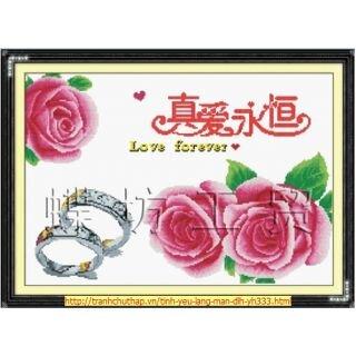 Tranh thêu chữ thập - Hoa - DLH-YH333