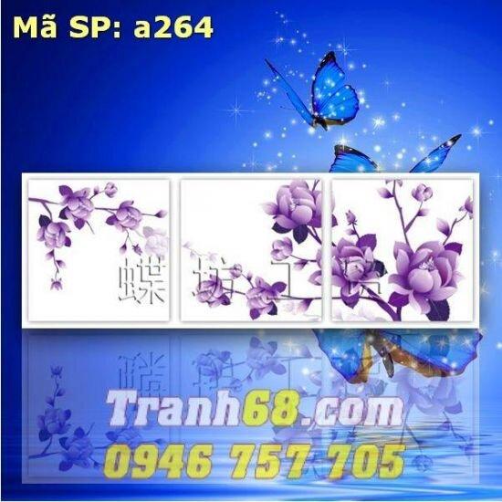 Tranh thêu chữ thập hoa - DLH-YA264