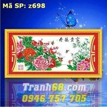 Tranh thêu chữ thập hoa - DLH-YZ698