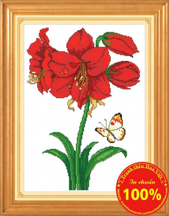 Tranh thêu chữ thập hoa - DLH-YH265