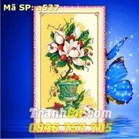 Tranh thêu chữ thập hoa - DLH-YA537