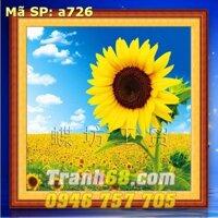 Tranh thêu chữ thập hoa - DLH-YA726