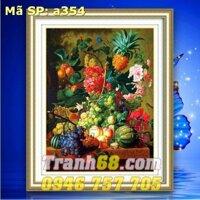 Tranh thêu chữ thập hoa quả - DLH-YA354