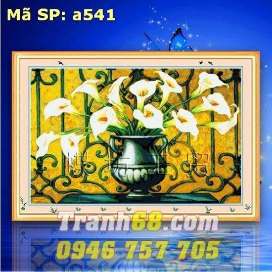 Tranh thêu chữ thập hoa DLH-YA541
