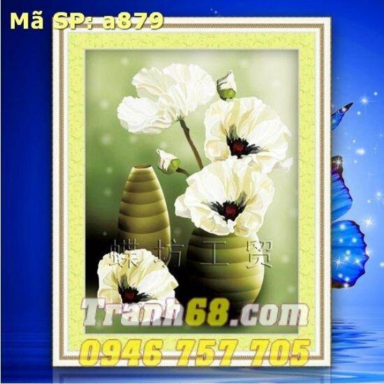Tranh thêu chữ thập hoa DLH-YA879