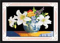 Tranh thêu chữ thập hoa DLH-YH342