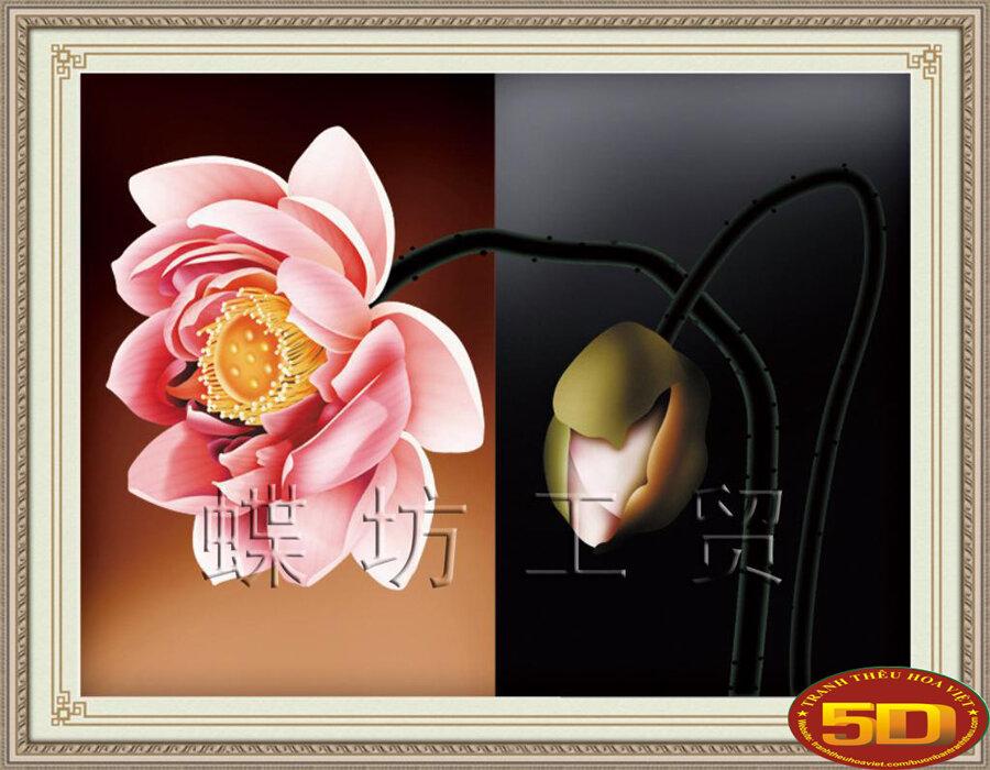 Tranh thêu chữ thập hoa DLH-YA893