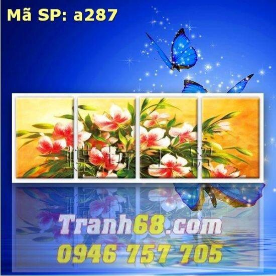 Tranh thêu chữ thập hoa DLH-YA287