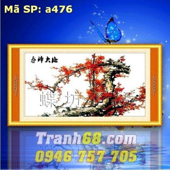 Tranh thêu chữ thập hoa DLH-YA476