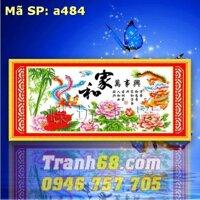 Tranh thêu chữ thập long phượng DLH-YA484