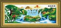 Tranh thêu chữ thập phong cảnh - DLH-YF300