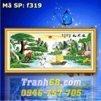 Tranh thêu chữ thập phong cảnh - DLH-YF319