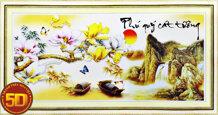 Tranh thêu chữ thập phú quý cát tường - DLH-222950