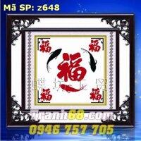 Tranh thêu chữ thập phúc DLH-YZ648