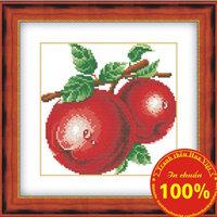 Tranh thêu chữ thập quả táo - DLH-YH250