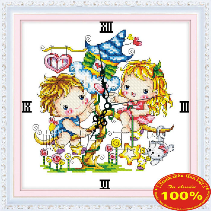 Tranh thêu chữ thập tình yêu DLH-YA836