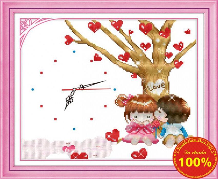 Tranh thêu chữ thập tình yêu DLH-Y8124