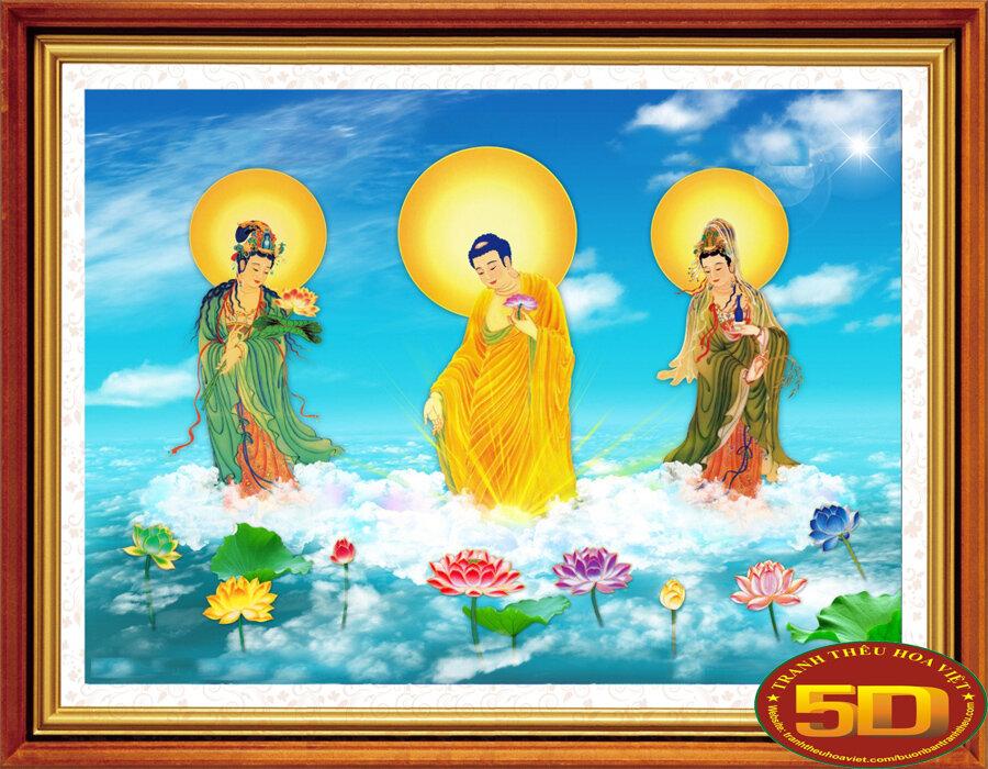 Tranh thêu chữ thập tôn giáo - DLH-YA908
