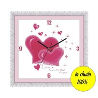 Tranh thêu chữ thập trái tim - DLH-Y8104