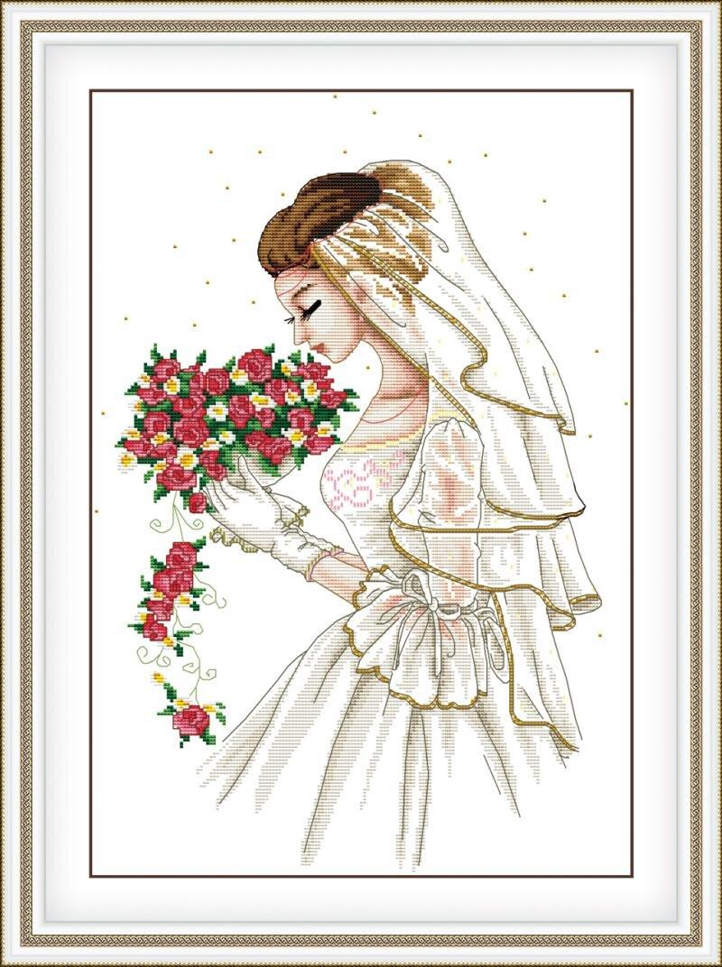 Tranh thêu đám cưới hạnh phúc DLH-YR258