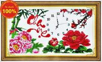 Tranh thêu đồng hồ cha mẹ - DLH-222817