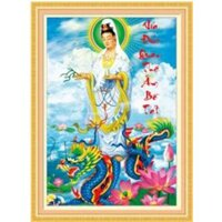 Tranh thêu Phật bà quan âm - DLH-222907