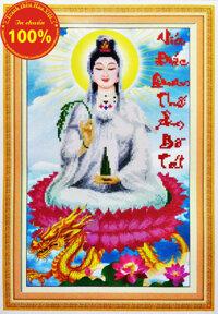 Tranh thêu Phật bà quan âm - DLH-222905