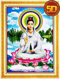 Tranh thêu Phật bà quan âm - DLH-222908