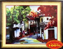 Tranh thêu phố cổ làng quê - DLH-222285