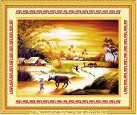Tranh thêu phong cảnh hoàng hôn DLH-222292