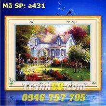 Tranh thêu phong cảnh DLH-YA431