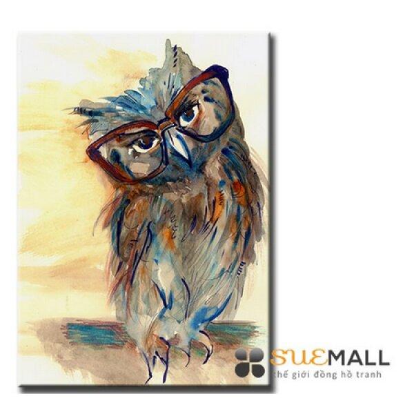 Tranh Treo Tường Canvas Suemall - Cú Bác Học - CV1408109