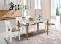 Bàn ăn gỗ 4 ghế hiện đại HGB67B + 4HGG67