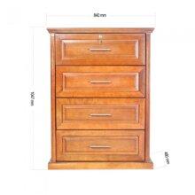Tủ áo ngăn kéo Commos Lam Sơn 80A.T - KT 84 x 48 x 110 cm, màu nâu vàng