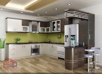 Tủ bếp gỗ sồi Nga TBS04