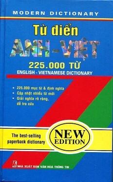 Từ Điển Anh – Việt (225.000 Từ)
