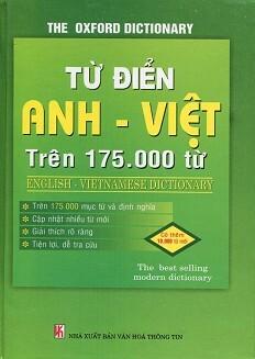 Từ Điển Anh Việt Trên 175.000 Từ (Bìa Cứng)