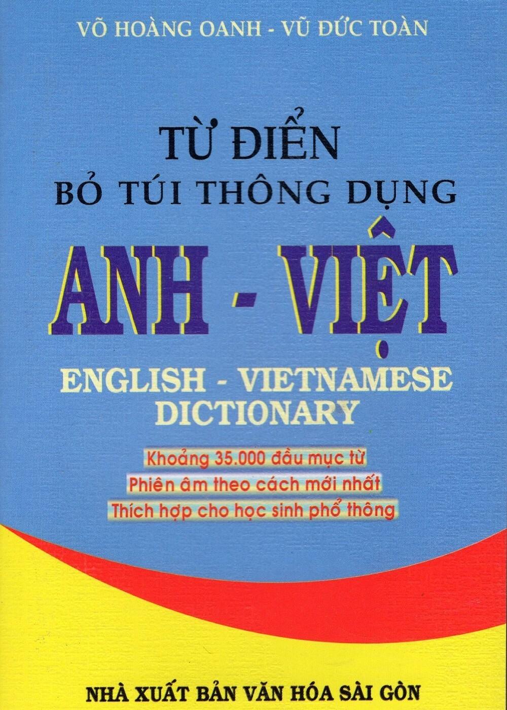 Từ Điển Bỏ Túi Thông Dụng Anh – Việt