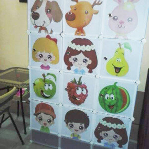 Tủ đựng quần áo trẻ em 15ô - TNE15HEB