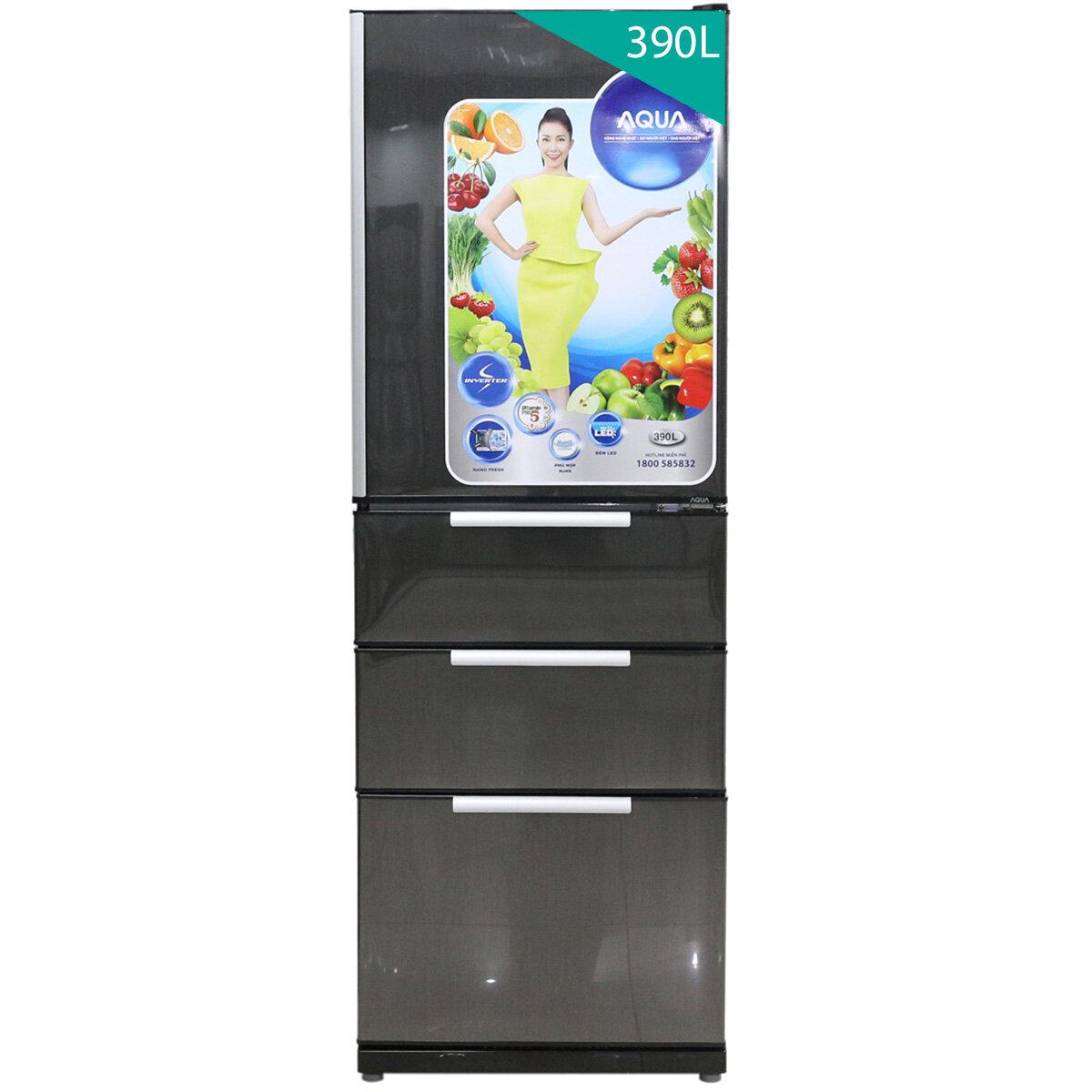Tủ lạnh Aqua AQR-ID360 - 390 lít, 4 cánh, Inverter