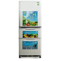 Tủ lạnh Mitsubishi MRC41GPWHV - 338 lít, 3 cánh, ngăn đá dưới, màu PSV/ PWHV/ OBV/ STV