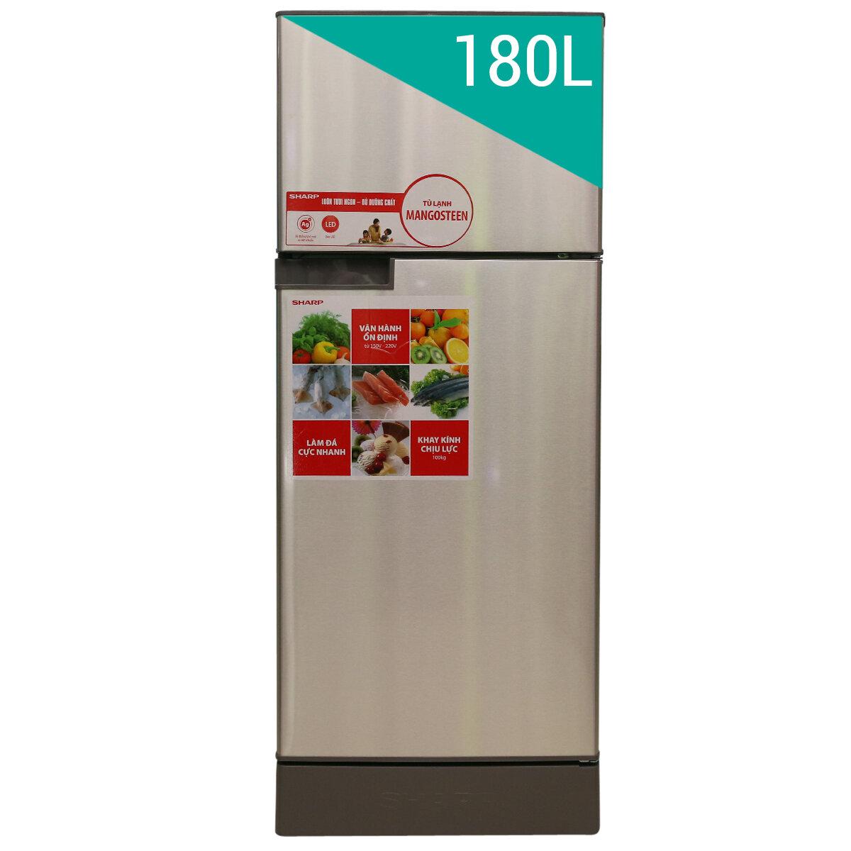 Tủ lạnh Sharp SJ-197P-CH - 180L, 2 cánh, ngăn đá trên