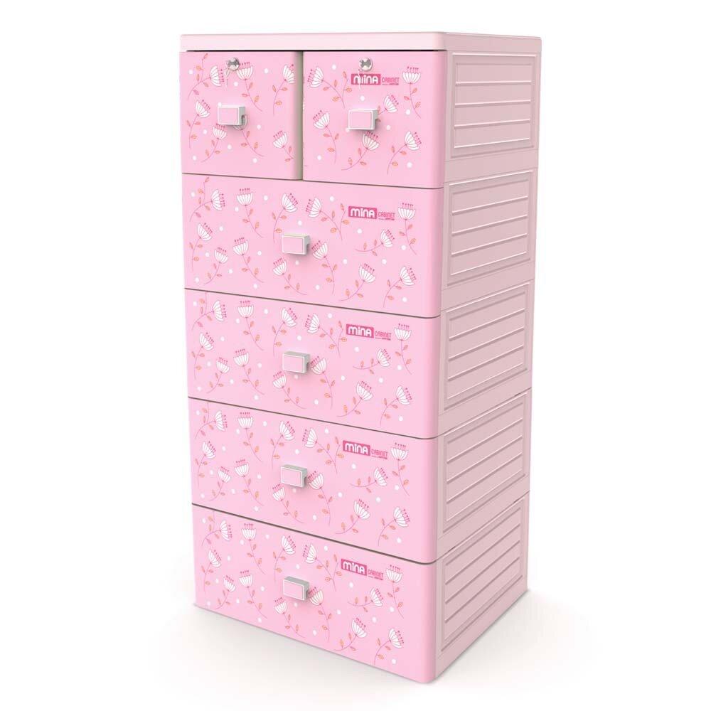 Tủ nhựa Mina Duy Tân 5 tầng 6 ngăn