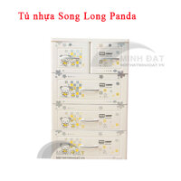 Tủ nhựa Song Long Panda 4 tầng, 5 ngăn