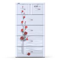 Tủ nhựa Tabi L 5 tầng trắng hoa đỏ