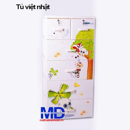 Tủ nhựa Việt Nhật Lucky, 5 tầng 6 ngăn