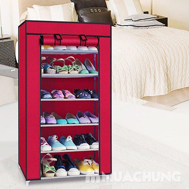 Tủ vải để giày dép 6 tầng