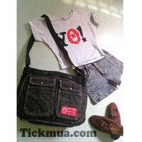Túi đeo chéo jean Revolution cá tính - T1515
