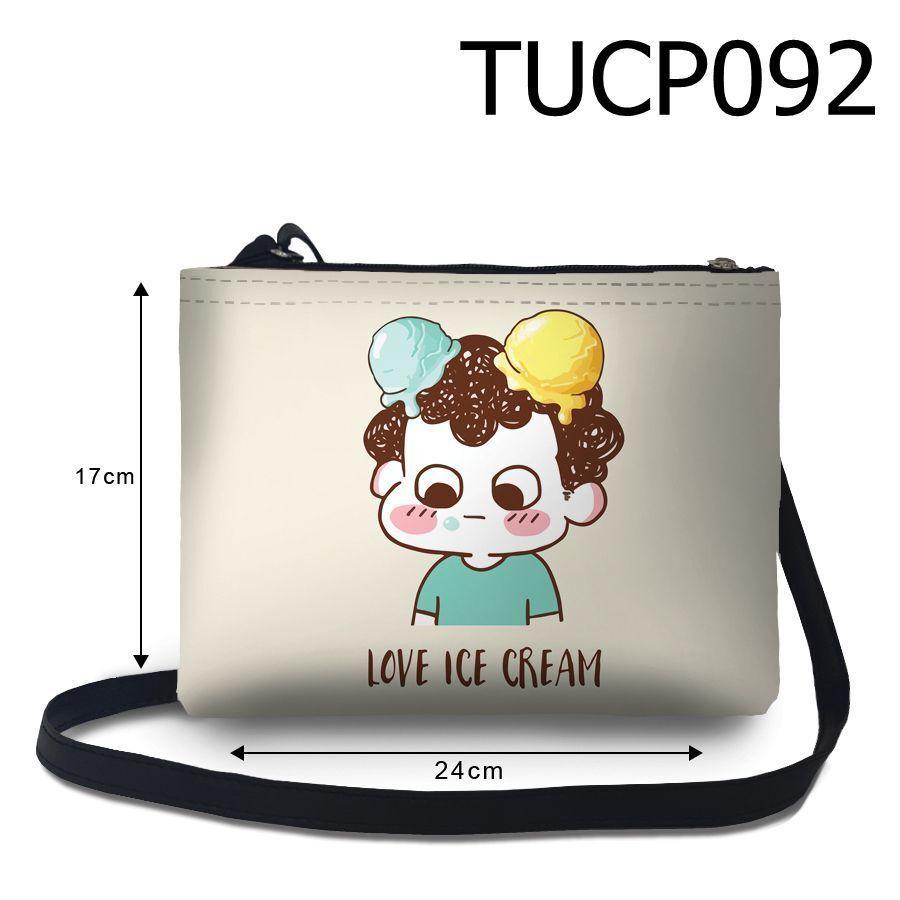 Túi nữ đeo chéo Cậu bé yêu kem TUCP092