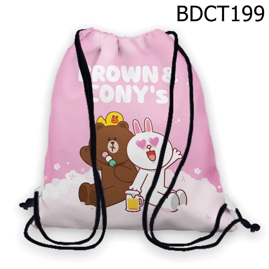 Túi rút Gấu Thỏ uống bia - BDCT199